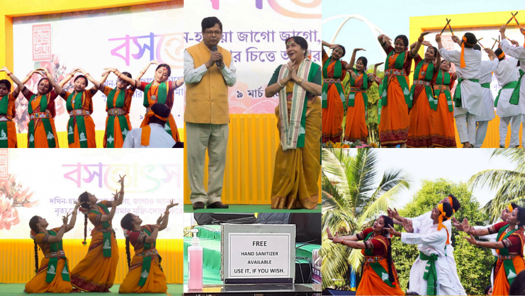 2 1024x578 - New Town Celebrates Basanta Utsav and International Women's Day with Colorful Programmes